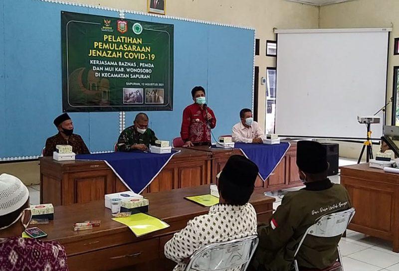 Pelatihan Pemulasaraan jenazah terkonfirmasi Covid-19 tingkat Kecamatan se Kabupaten Wonosobo. (Foto: Diskominfo Wonosobo)