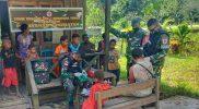 Prajurit Yon 512/QY layani pengobatan warga perbatasan Papua-PNG. (Foto: dukomentasi Yon 512/QY)