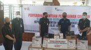 Yayasan BUMN untuk Indonesia menyerahkan sejumlah bantuan alat kesehatan (Alkes) senilai Rp600 juta kepada Pemkab Magelang yang diterima langsung Bupati Zaenal Arifin. (Foto: Humas/beritamagelang)
