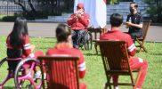 Presiden Joko Widodo memberikan apresiasi dan pujian atas torehan prestasi yang ditorehkan atlet kotingen Indonesia pada Paralimpiade Tokyo 2020. (Foto:dok/BPMI/kemenpora.go.id)