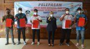 Bupati Purbalingga, Dyah Hayuning Pratiwi, mendorong para atlet untuk terus berjuang dengan penuh semangat dan dedikasi tinggi. Hal ini dikatakannya saat melepas 4 atlet Purbalingga ke PON XX Papua. (Foto: Diskominfo Purbalingga)
