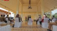 Sri Sultan saat meresmikan Balai Budaya Panggungharjo, Bantul pada Senin 20 September 2021. (Foto: Humas Pemda DIY)