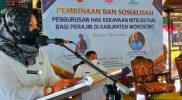 Ketua Dekranasda Wonosobo, Dyah Afif Nurhidayat, menjelaskan, hak kekayaan intelektual. (Foto: Diskominfo Wonosobo)