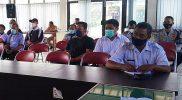 Audiensi KNKT bersama jajaran Dinas Perkimhub Kabupaten Wonosobo, serta pemangku kebijakan di wilayah Kertek tentang pengalihan arus lalu lintas menuju benteng takeshi. (Foto: Diskominfo Wonosobo)