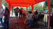 Ternyata belum semua wisatawan menginstal plikasi PeduliLindungi sebagai syarat mengunjungi Candi Borobudur. (Foto: Humas/beritamagelang)