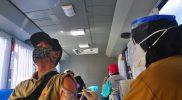 """Bus """"Vaccine Mobile"""" sebagai upaya meningkatkan vaksinasi di wilayah yang masih rendah capaian vaksin Covid-19. (Foto: Diskominfo Jateng)"""