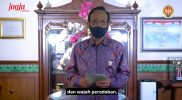Gubernur DIY Sri Sultan Hamengku Bowono X dalam sambutan pembukaan FKY 2021 secara daring. (Foto: screenshoot fky.id)