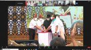 Menpora RI Zainudin Amali melaunching Festival Olahraga Rekreasi Masyarakat Nasional (Fornas) 2022 Sumatera Selatan. (Foto:raiky/kemenpora.go.id)