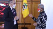 Duta Besar Denmark untuk Indonesia, Mr Lars Bo Larsen berbincang dengan Gubernur Jawa Tengah Ganjar Pranowo. (Foto: Humas Jateng)