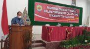 Wakil Bupati Grobogan Bambang Pujiyanto, saat membuka Acara Pemberdayaan Masyarakat dalam Pemantauan Orang Asing. (Foto: Diskominfo Grobogan)