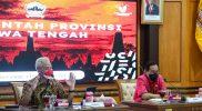 Gubernur Jawa Tengah, Ganjar Pranowo saat rapat penanganan Covid-19, Selasa (14/9/2021). (Foto: Humas Jateng)