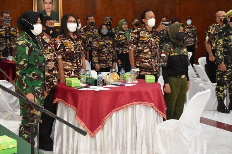 Gelar Komsos bersama keluarga besar TNI  untuk mempererat silahturahmi antara Korem 072/Pmk dengan KBT. (Foto: Penrem 072/Pmk)