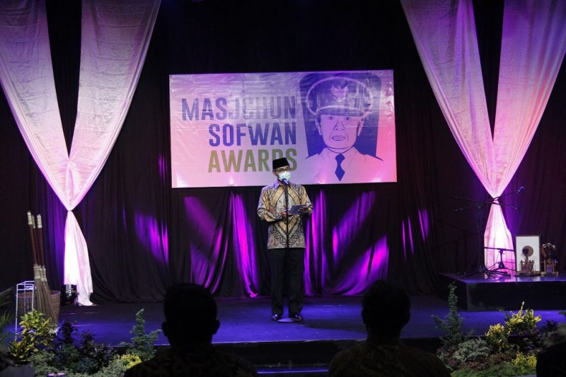 Bupati Temanggung HM Al Khadziq meluncurkan program Masjchun Sofwan Awards (MSA) 2021. (Foto: Diskominfo Temanggung)