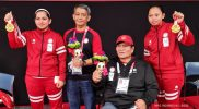 Pasangan ganda putri, Leani Ratri Oktila/Khalimatus Sadiyah mencatat sejarah di pesta Paralimpiade dengan medali emas pertama untuk Indonesia melalui cabang para bulutangkis. (Foto:dok/npcindonesia/kemenpora.go.id)