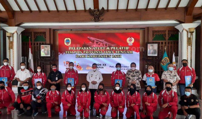 Kabupaten Pati mengirimkan 20 orang atlet dan enam orang pelatih dari 15 cabang olahraga (cabor), yang terdiri dari 12 cabor resmi dan tiga cabor eksibisi. (Foto: Diskominfo Pati)