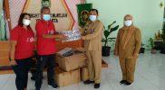 Ketua PAC PDIP Danurejan menyerahkan bantuan 3 ribu masker. (Foto: Istimewa