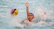 Pada laga perdana, tim polo air putri DKI Jakarta menang telak atas DIY dengan skor 19-3. (Foto:rayki/kemenpora.go.id)