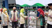 Pemerintah Kabupaten Rembang meluncurkan program Rak Sedekah, sebagai salah satu jembatan untuk saling berbagi. (Foto: Diskominfo Rembang)