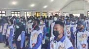 Pembekalan gelombang pertama relawan PON XX di Aula SMAN I Merauke. (Foto: McMrk)