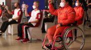 Atlet angkat Siti Mahmudah optimistis bisa mengangkat 120 kilogram, untuk memecahkan angkatan yang ia torehkan pada ajang Peparnas sebelumnya, 116 kilogram. (Foto: Diskominfo Jateng)