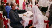 Vaksinasi yang dilaksanakan di GOR Bumi Manunggal SMK Syubbanul Wathon Tegalrejo Magelang. (Foto: Humas/beritamagelang)