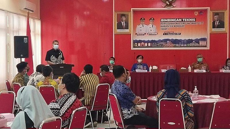 Bimbingan Teknis Penyusunan Masterplan Smart City yang digelar Pemkab Wonogiri. (Foto: Humas Kab Wonogiri)