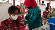 Sebanyak 32.000 pelajar SMA sederajat di Wonogiri mulai disuntik vaksin Sinovac pekan ini. (Foto: Kominfo Wonogiri)