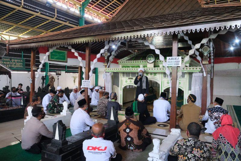 Acara sebar apem Yaqowiyu ditiadakan, digantikan dengan doa kebangsaan bersama tokoh agama. (Foto:Joko Priyono Diskominfo Klaten)