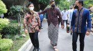 Wali Kota Surakarta Gibran Rakabuming Raka dan Wali Kota Bogor Bima Arya soan ke rumah dinas Gubernur Jawa Tengah Ganjar Pranowo, Kamis (14/10/2021). (Foto: Humas Jateng)