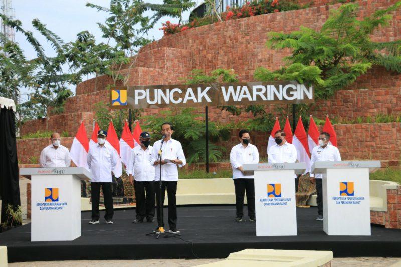 Presiden Joko Widodo meresmikan Kawasan Strategis Pariwisata Nasional (KSPN) Puncak Waringin, Kawasan Batu Cermin, dan delapan ruas jalan di Labuan Bajo. (Foto:Mckabmanggaraibarat)