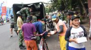Korem 072/Pamungkas menggelar Gowes bersama anggota menyusuri jalan Kota Yogyakarta sekaligus berbagi nasi kotak sarapan pagi, Jumat (15/10/21). (Foto:Penrem 072)