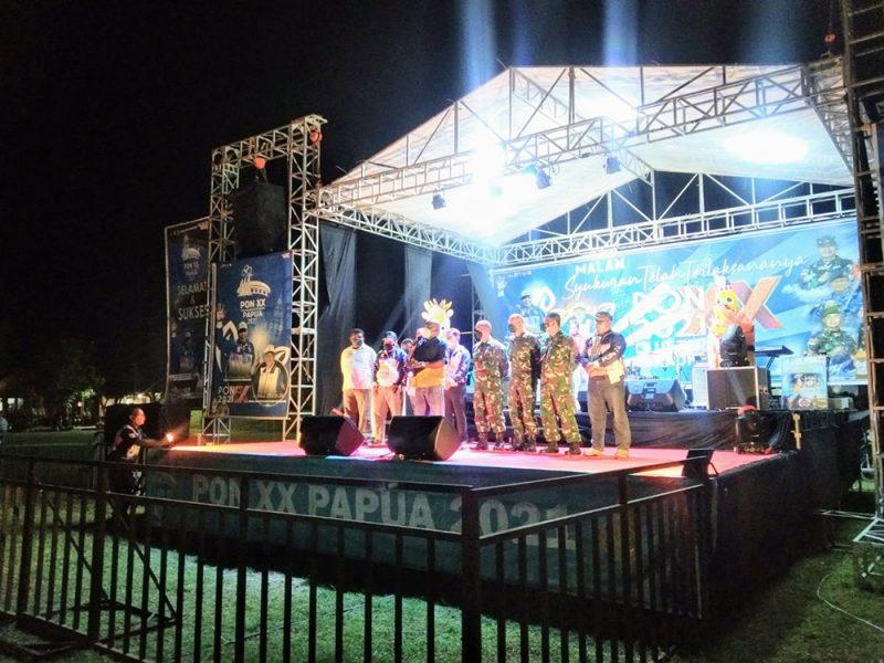 Papua Klaster Merauke menggelar malam syukuran terlaksananya seluruh kegiatan pekan olahraga untuk enam Cabor di Merauke. (Foto:MC Merauke)