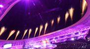Pertunjukan kembang api pada penutupan PON Papua di Stadion Lukas Enembe, Kompleks Olahraga Kampung Harapan, Distrik Sentani Timur, Kabupaten Jayapura, Papua, Jumat (15/10/2021). (ANTARA FOTO/Nova Wahyudi/tom)