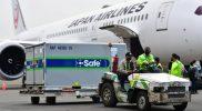 Vaksin AstraZeneca diangkut menggunakan maskapai Japan Airlines dengan nomor penerbangan JAL725. Tiba di Bandara Soekarno-Hatta pada Selasa (19/10/2021) pukul 16.55 WIB. (Foto: Amiri Yandi/InfoPublik)