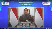 Presiden Joko Widodo saat puncak perayaan HUT ke-52 Badan Informasi Geospasial (BIG) sekaligus peringatan Hari Informasi Geospasial (HIG) 2021 yang digelar di Sentul, Bogor, Selasa 19 Oktober 2021. (Foto: InfoPublik)