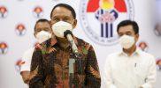 Menpora RI Zainudin Amali mengungkapkan bahwa dirinya melakukan Rapat Kabinet Terbatas bersama Presiden Joko Widodo dan Ketua Umum Lembaga Anti-Doping Indonesia (LADI) di Istana Negara, Jumat (22/10/2021) siang.(Foto:Egan/kemenpora.go.id)