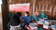 vaksinasi Covid-19 yang kedua sebanyak 1.000 dosis digelar DPC Projo Temanggung di kantor Desa Rejosari, Kecamatan Pringsurat, Kamis (21/10/2021). (Foto: MC TMG)