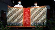Motif Sarung Batik Pakem Kaumanan resmi dilaunching bertepatan dengan Hari Batik Nasional (HBN) tahun 2021. (Foto: Dinkominfo Kota Pekalongan)
