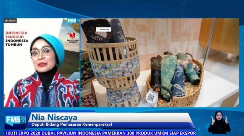 Deputi Bidang Pemasaran Kemenparekraf Nia Niscaya pada diskusi media Forum Merdeka Barat 9 (FMB9) yang bertajuk
