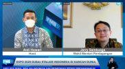"""Wakil Menteri Perdagangan Jerry Sambuaga dalam diskusi virtual media Forum Merdeka Barat 9 (FMB9) yang bertajuk """"Expo 2020 Dubai: Etalase Indonesia di Kancah Dunia"""". (Foto:infopublik)"""