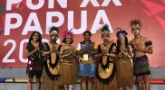 Putra-putri Mimika yang menjadi duta ambassador PON XX Papua. (Foto: Humas PPM PB PON Papua)