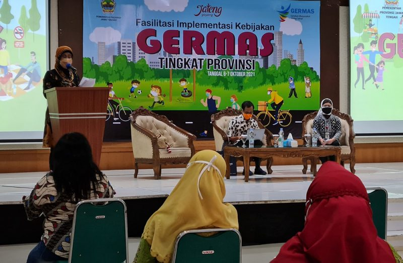 Acara Fasilitasi Implementasi Kebijakan Germas Tingkat Provinsi, di Balairung UPGRIS, Jalan Gajah Raya Semarang. (Foto: Diskominfo Jateng)