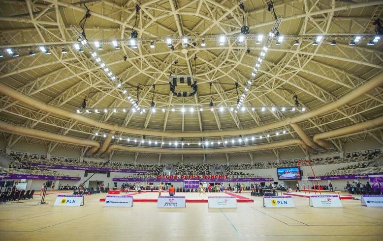 Istora Papua Bangkit, yang berada di Lukas Enembe Sport Complex, Distrik Sentani Timur, salah satu veneu yang diresmikan Presiden Jokowi hari ini. (Foto: PB PON XX Papua)