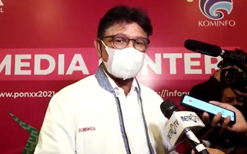 Menteri Komunikasi dan Informatika Johnny G. Plate. (Foto:MC Kominfo PON XX)