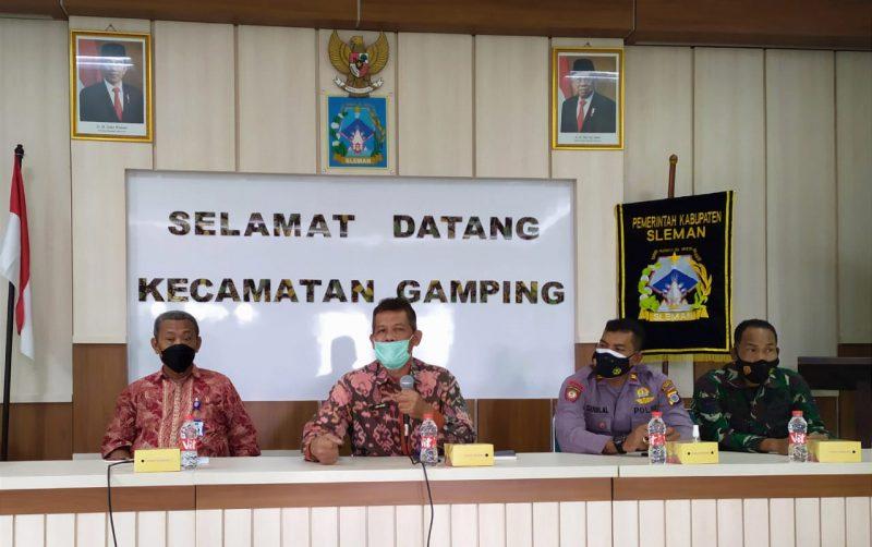 Pemerintah Kapanewon Gamping menyelenggarakan pertemuan bersama segenap komunitas relawan di Kantor Panewu Gamping, Rabu 6 Oktober 2021. (Foto:MC Kab Sleman)
