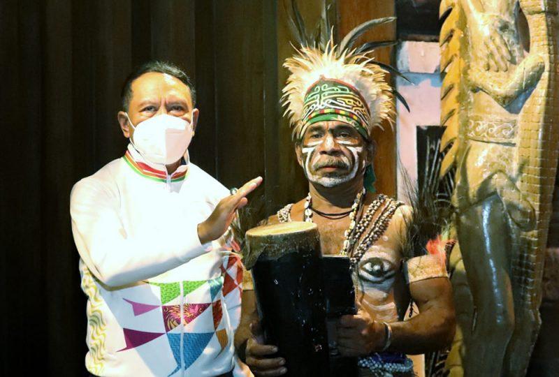 Menpora RI Zainudin Amali menyampaikan penyelenggaraan Pekan Olahraga Nasional (PON) XX Papua menjadi contoh penyelenggaraan event olahraga di tengah pandemi Covid-19. (Foto:Putra/kemenpora.go.id)