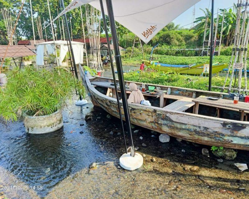Ketjeh Resto, destinasi wisata baru di Klaten yang mengusung isu peduli sungai. (Foto: Diskominfo Klaten)