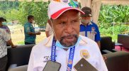Ketua Harian PB PON XX Papua Yunus Wonda. (Foto : Humas PB PON/Erwin)