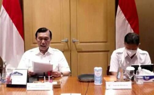 Menko Marves, Luhut Binsar Pandjaitan, menyampaikan, pemerintah akan mulai melakukan uji coba PPKM level satu (new normal) di Kota Blitar, Jawa Timur. (Foto: Humas Kemenko Marves/Istimewa)