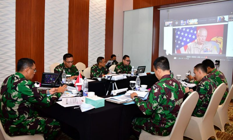 TNI AL mengikuti kegitan Pacific Amphibious Leaders Symposium (PALS) kedua tahun 2021 secara virtual  yang diselenggarakan U.S. Marine Force Pacific (Marforpac). (Foto: Dispenal)